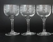 """Set of 3 Vintage Cut Crystal Liquer or Sherry or Cordial Glasses for your Elegant Barware Collection - 4-3/8"""" Tall"""