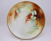 Vintage Hand Painted Artist Signed Bavaria German Large Still Life Serving Plate or Charger - Great Wall Decor