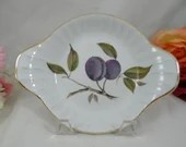 "Vintage Royal Worcester Evesham Gold Individual Augratin Dish  ""Plums""  - 8 Available"