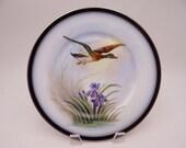 1900s Vintage Guerin Limoges France Flying Game Bird Plate
