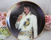 "Large 1987 Elvis Presley Remembered Series ""Tenderly"" Limited Edition Collector Plate"