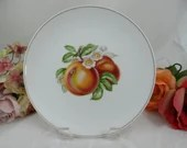 """1960s Hutschenreuther Fruit Salad Plate """"Peach"""" - Lovely"""