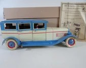 Vintage 1960s DBS Baron 240 Tin Litho Wind Up Limousine Car with Original Box and Manual