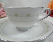 "Vintage Mid Century 1960s Marshall Field & Co ""Iris"" Teacup and Saucer Set Lovely Tea Cup"