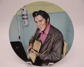 "Vintage Elvis Presley Delphi Looking at a Legend Series ""A Studio Session"" Limited Edition Collector Plate"