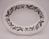 """Near Mint Vintage Wedgwood English Bone China """"Strawberry Hill""""  Oval Vegetable Serving Bowl- 2 available"""