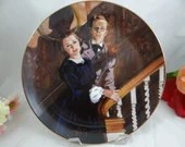 """1989 Golden Anniversary of Gone With the Wind """"Melanie and Ashley"""" W J George Collector Plate in Original Box Limited Edition"""