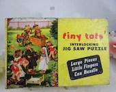 "Vintage 1947 Jaymar Tiny Tots Interlocking Children's Jig Saw Puzzle ""Springtime"""