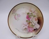 1920s Vintage German Small Multi-Colored Roses Plate