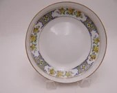 1890 to 1920 Vintage Hand Painted Nippon Yellow Flower Nut or Candy Bowl