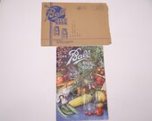 Vintage 1943 War Time Cookbook The Ball Blue Book with Original Shipping Envelope
