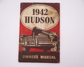 Rare Vintage 1942 Hudson Owners Manual Complete with Electrical Diagram