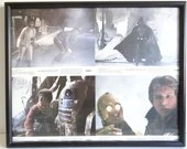 Original Star Wars Empire Strikes Back Set of 4 Framed Movie Lobby Cards -SW1