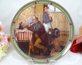 """1986 Edwin Knowles Norman Rockwell """"The Musician's Magic"""" Collector Plate Limited Edition"""