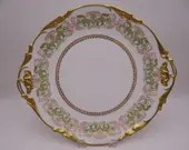 Spectacular 1900s Vintage Factory Decorated Jean Pouyat Limoges France Large Charger Serving Dish