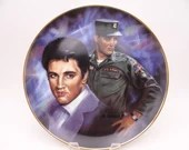 "Large 1987 Elvis Presley Remembered Series ""The Early Years"" Limited Edition Collector Plate GI Blues"