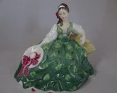 Vintage Hand Painted Royal Doulton ELYSE Pretty Lady Figurine HN2474  - Discontinued