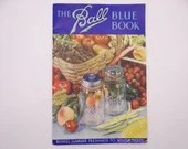 Vintage 1938 The Ball Blue Book Softcover Cookbook