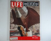 1955 Life Magazine, April 18   Frigate's Figurehead  America's Arts and Skills  Rock and Roll