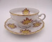 Vintage Japanese Yellow Rose Teacup Lovely Tea Cup