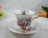 Vintage English Bone China Royal Taunton Teacup and Saucer English Tea cup
