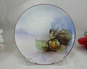 1900s Vintage Hand Painted Nippon Small Flower Plate
