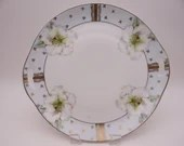 c1892-1920 Beautiful Hand Painted Kloster Vessra Cake or Serving Plate