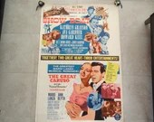 Rare Very Large Original 1963 Double Feature MGM  The Great Caruso and Show Boat Movie Poster
