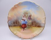1920s Antique Legrand Biarritz S.W.Co Limoges France Signed Charger Plate  - Delightful
