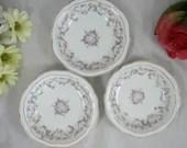 """1880s Set of 3 Vintage Bavarian ZSC Zeh Scherzer & Co """"Orleans"""" Dessert or Sauce Bowls"""