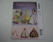 New Uncut FF McCall's 6903 Pattern Fashion Doll Closet Dress and Accessory Pattern Hat Belt Purse Necklace - Accessory Box - Clothes Box