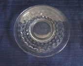 Fostoria American Clear Glass Saucer Vintage Fostoria Saucer