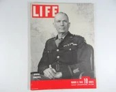 1943 Life Magazine Wartime Issue, March 8,  General Somervell - War in Tunisia - Puerto Rico