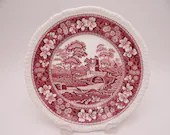 """Vintage Spode Made in England """"Spode Tower"""" Pink Salad Plate - 8 Available"""