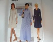Vintage Butterick #6793 Sewing Pattern Sizes 6 8 10 Misses Button Down Shirt Dress Pattern - Short or Long - So Pretty!