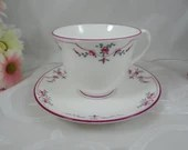 "Vintage Royal Worcester English Bone China ""Petite Fleur"" Teacup and Saucer English Teacup"