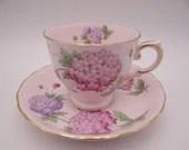 Vintage Duchess English Bone China Teacup Pink English Teacup and Saucer Set Pink tea cup