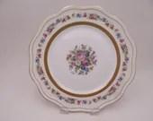 Spectacular Vintage Nardon Lafarge Porcelaine France Hand Embellished with Enamel Accents Dinner Plate PDG16