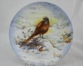 1977 Crown Staffordshire Christmas Plate Series titled Cock of the North