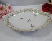 1782 to 1800 Antique Royal Crown Derby English Bone China Hand Painted Serving Dish - Delightful