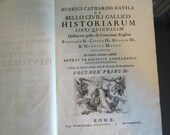 1785 First Edition Extremely Rare History of France 3 Volume Set written in Latin by Enrico Caterino Davila