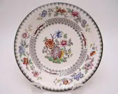 """Near Mint Vintage Spode English Bone China Made in England """"Chinese Rose"""" C1815 Coupe Cereal Bowl"""