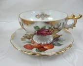 1950s Royal Sealy China Fruit Lusterware Teacup Stunning and Outstanding Tea Cup