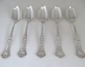 1906 Wm A Rogers Grenole-Gloria Silverplate Solid Shell Set of 5 Teaspoons