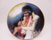 "Large 1987 Elvis Presley Remembered Series ""Loving You"" Limited Edition Collector Plate"