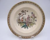 """1890s Vintage Edge Malkin Hand Painted English Bone China  """"Chang"""" Soup or Cereal Bowl"""