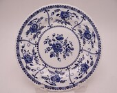 """Vintage Johnson Bros  Blue and White Bread and Butter Plate """"Indies""""  - 4 Available"""