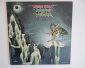 """Vintage First US Issue 1972 Mercury Records Uriah Heep """"Demons and Wizzards""""  LP Vinyl Record Album SRM-1-630, Classic Rock Psychedelic Rock"""