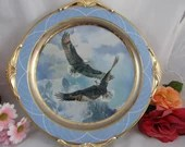 24K Gold Fountainhead As Free as the Wind Large Display Plate signed by Mario Fernandez