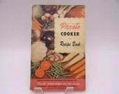 1949 Vintage National Presto Cooker Recipe Book Booklet Manual